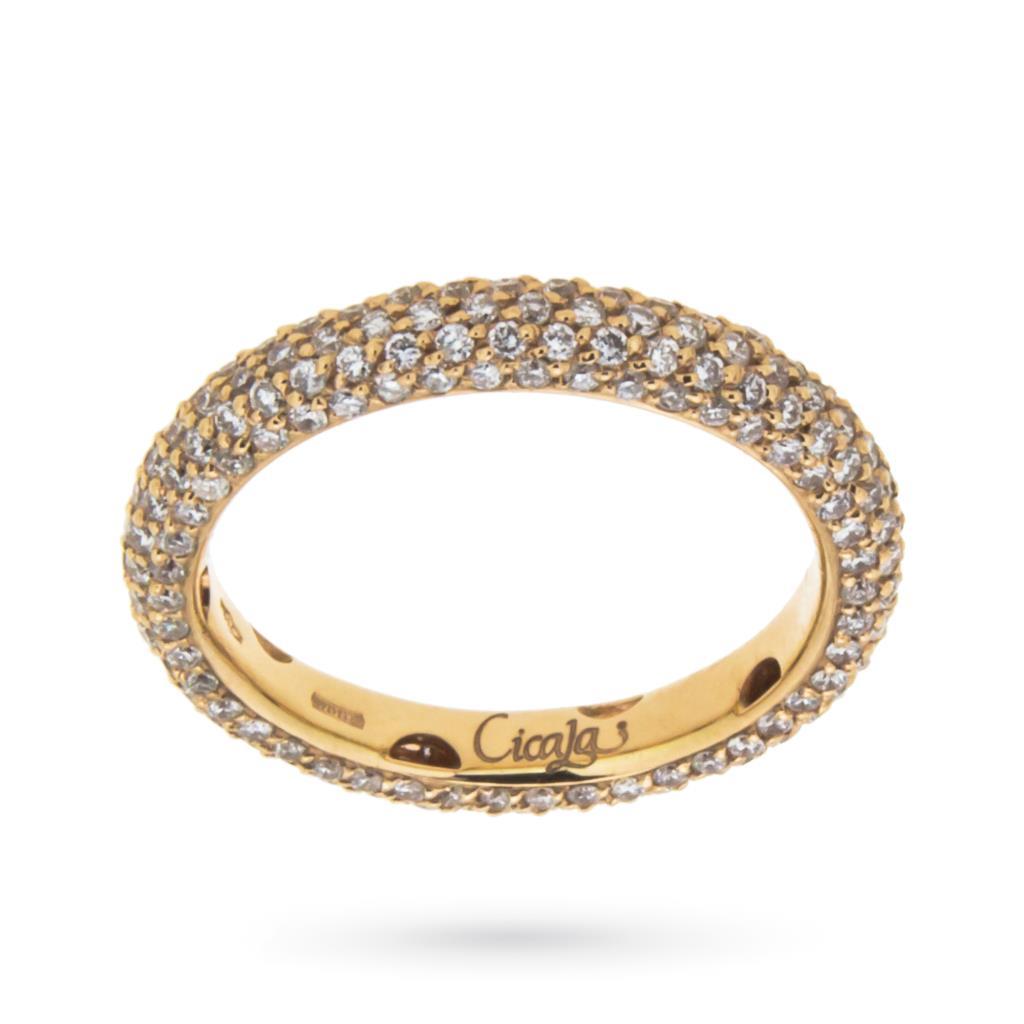 Anello eternity con diamanti ct 1,50 G VS - ORO TREND