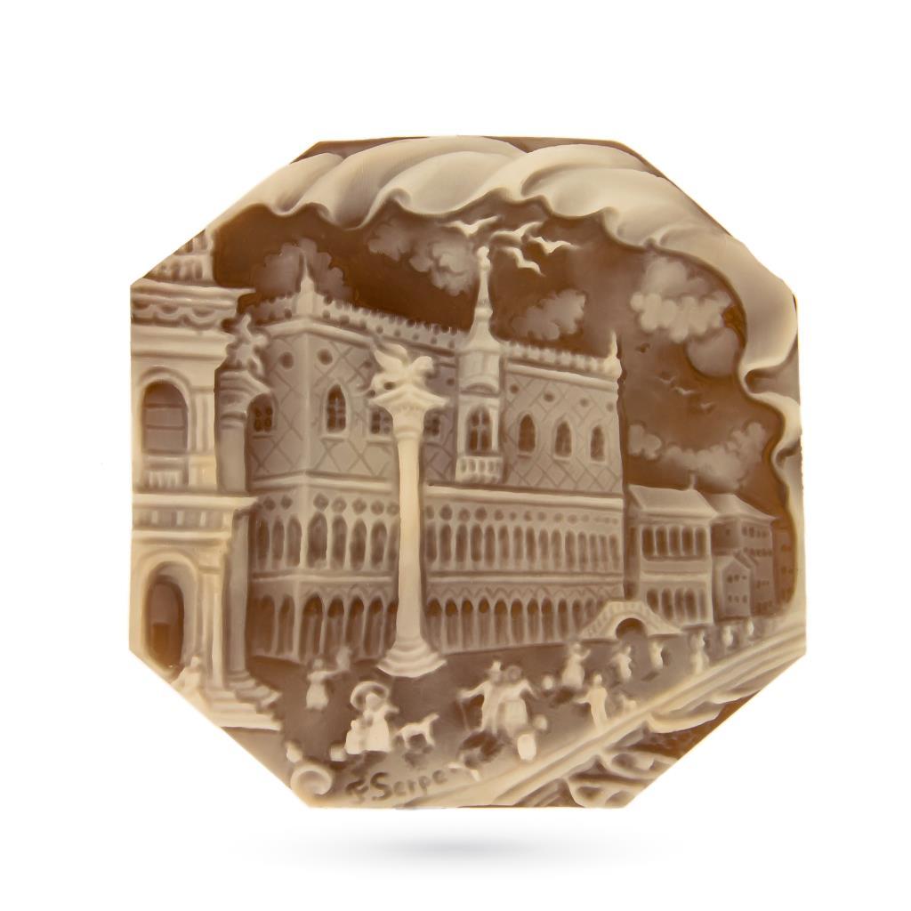 Artistic craftmade cameo of San Marco square to be set  - CAMEO ITALIANO