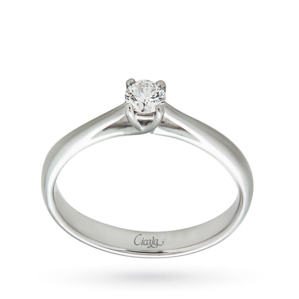 Anello di fidanzamento Afrodite con diamante 0,20ct G VS - CICALA