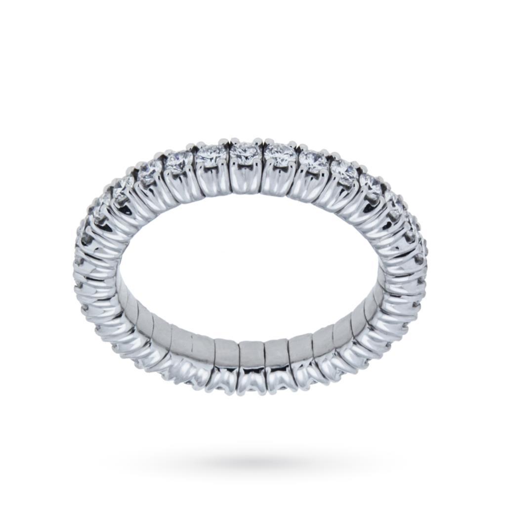 Anello eternity elastica con diamanti ct 0,92 G VS - CICALA