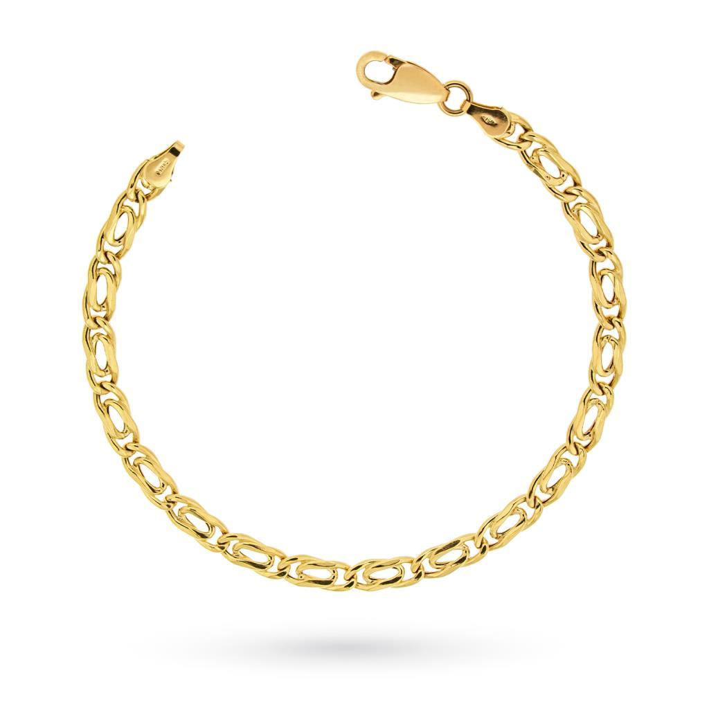 Bracciale oro giallo maglia occhio di pernice 21cm - UNBRANDED