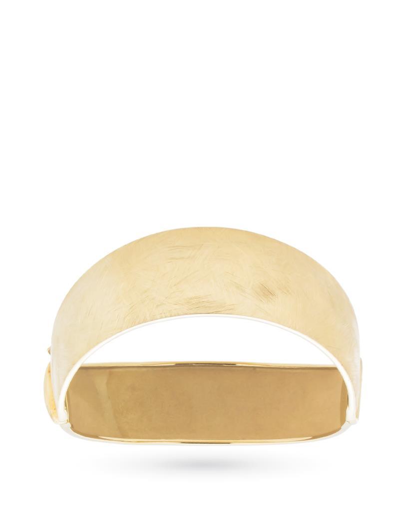 Bracciale rigido in oro con finitura satinata - CICALA