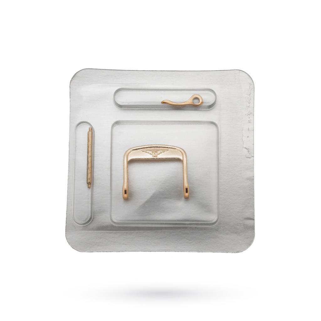 Fibbia Longines 14mm originale in acciaio PVD oro rosa - LONGINES
