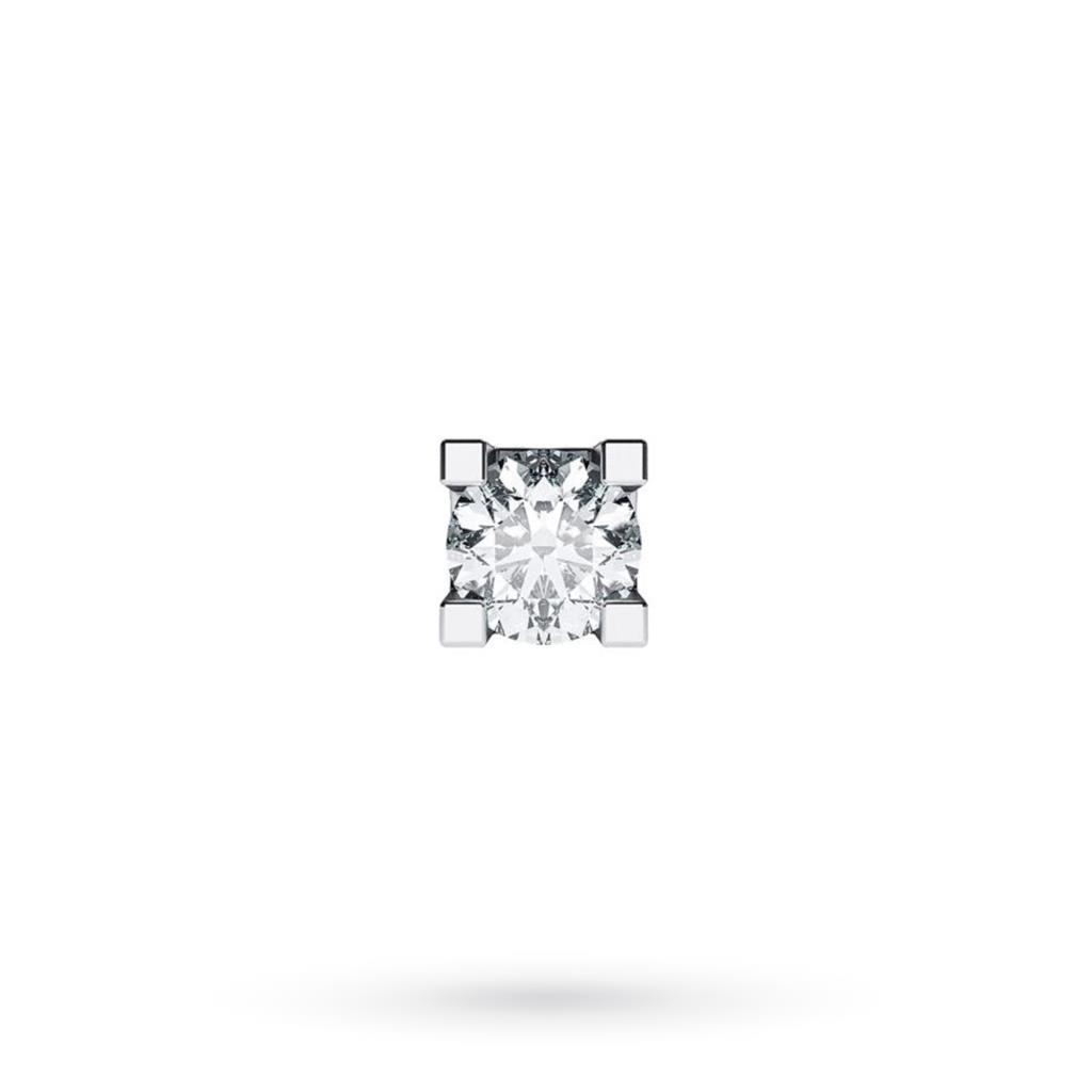 Orecchino singolo da uomo in oro bianco con diamante ct 0,08 G VS - CICALA