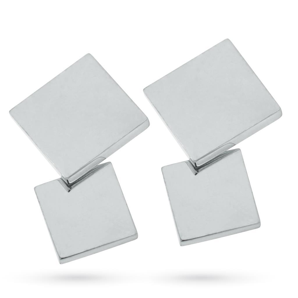 Gemelli in argento 925 con due quadrati lisci - CICALA