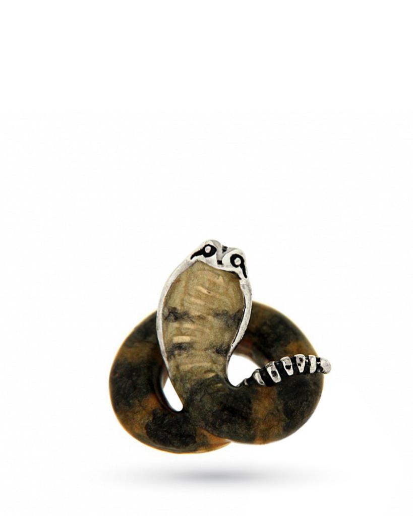 Cobra mini in argento e smalto  - SATURNO