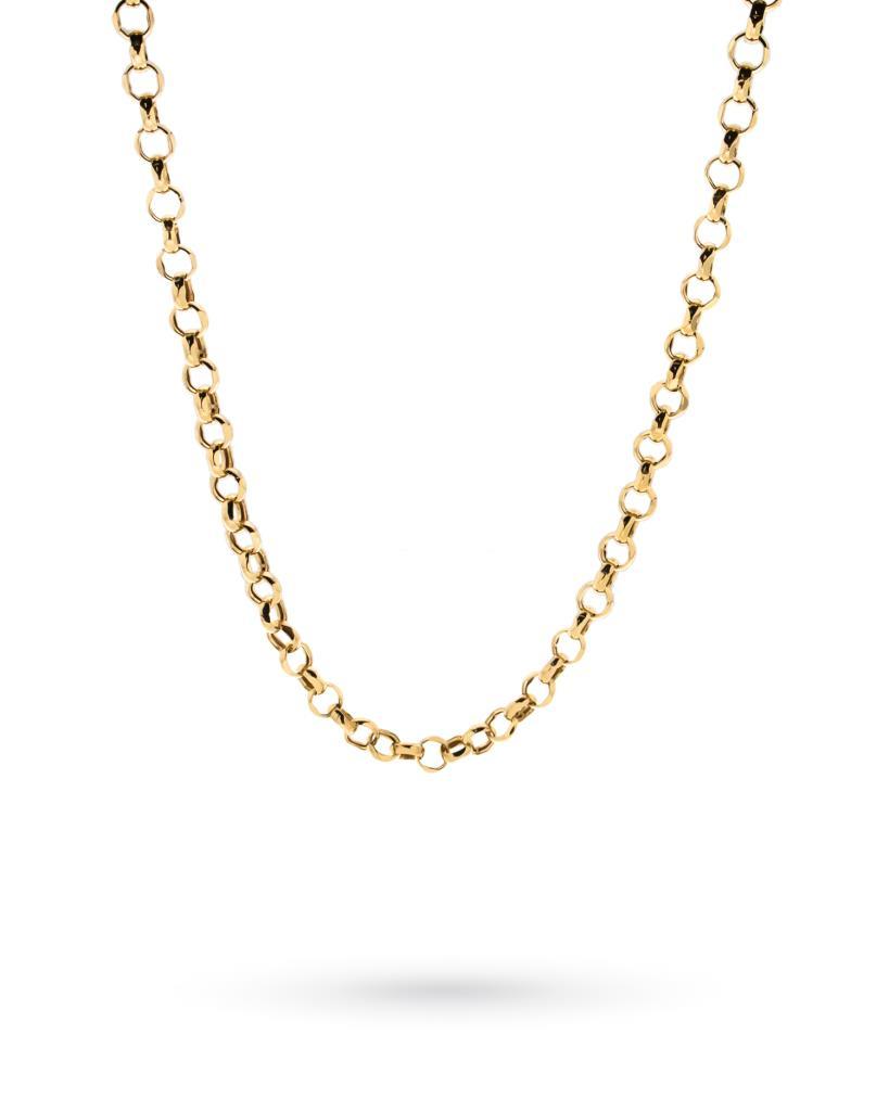 Collana in oro giallo con maglia rolo spessa 45cm - CICALA