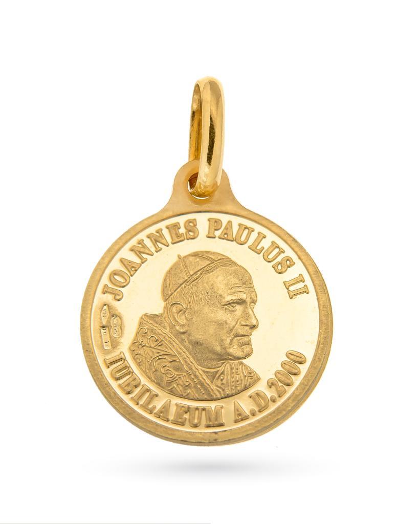 Medaglia Giovanni Paolo II Giubileo in oro giallo 18kt - UNOAERRE