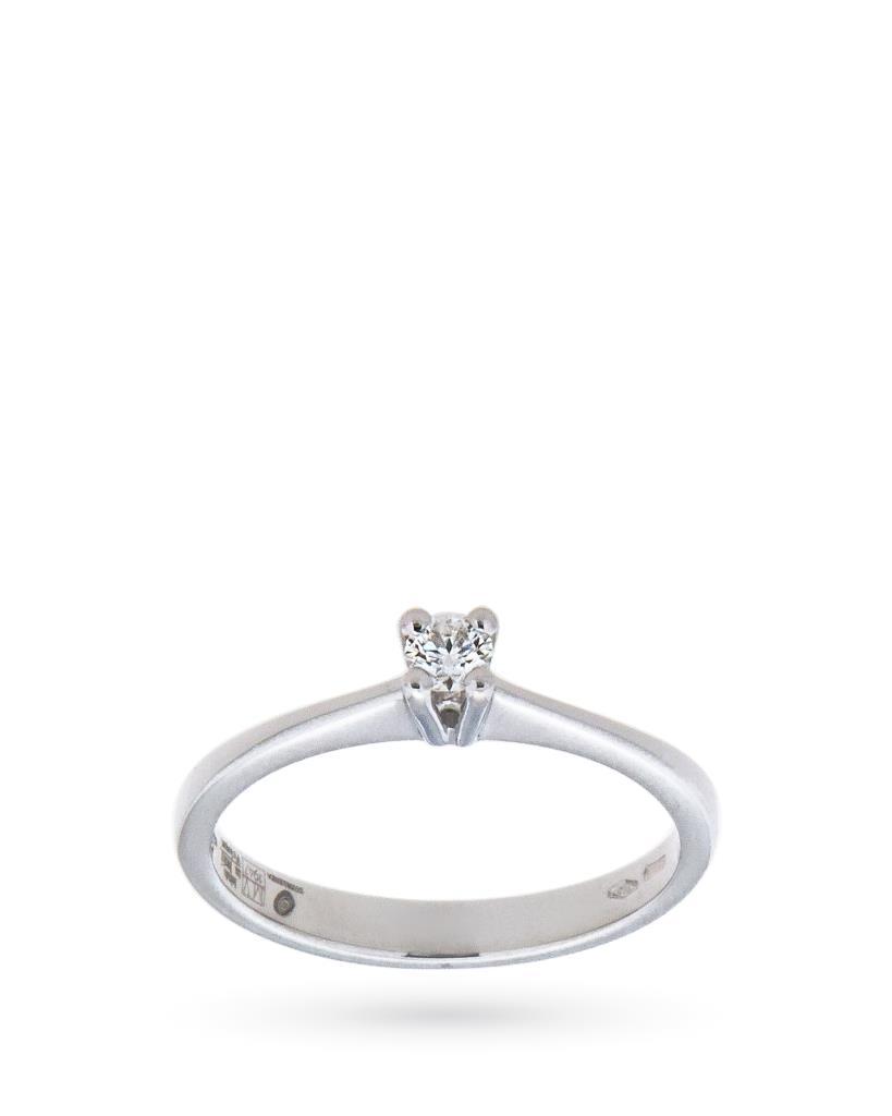 Anello solitario con diamante ct 0,13 G IF - MIRCO VISCONTI