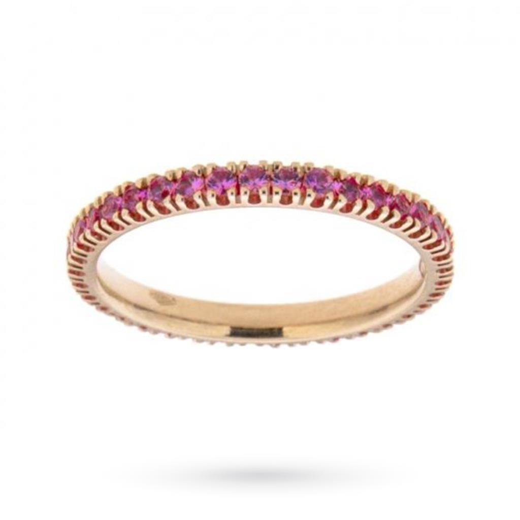 Anello eternity con zaffiri rosa ct 0,80 - CICALA