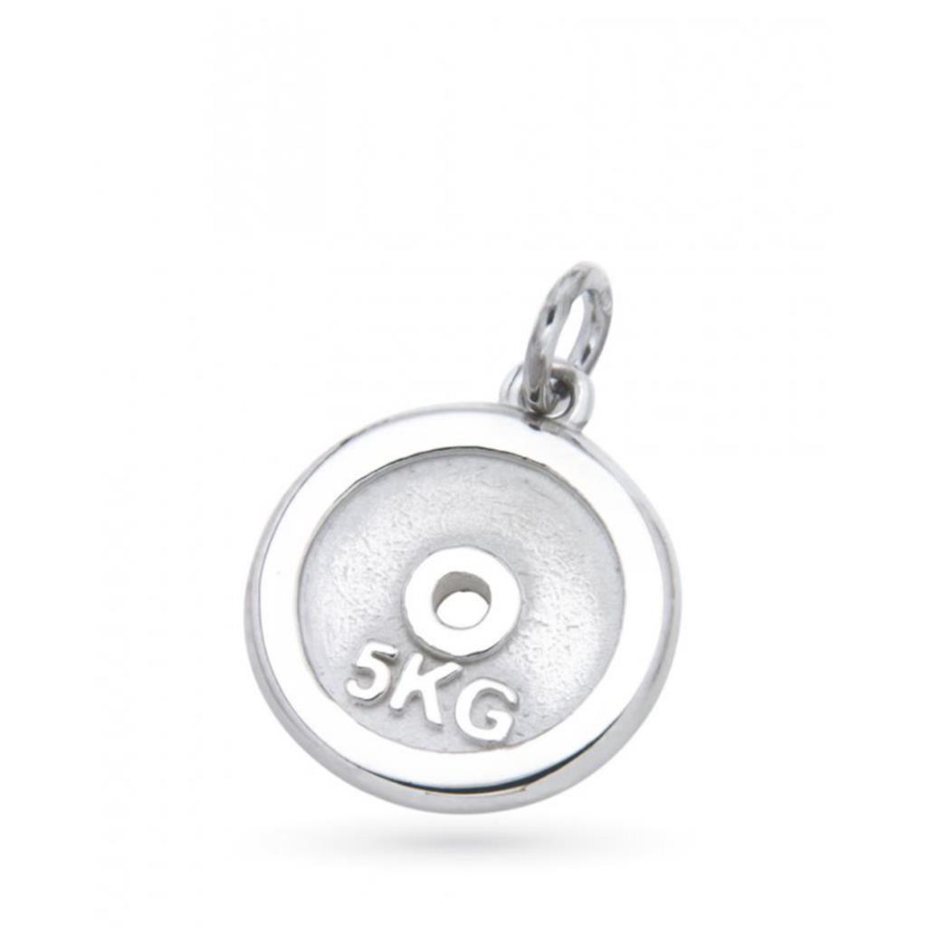 Ciondolo disco 5kg da palestra in argento  - CICALA