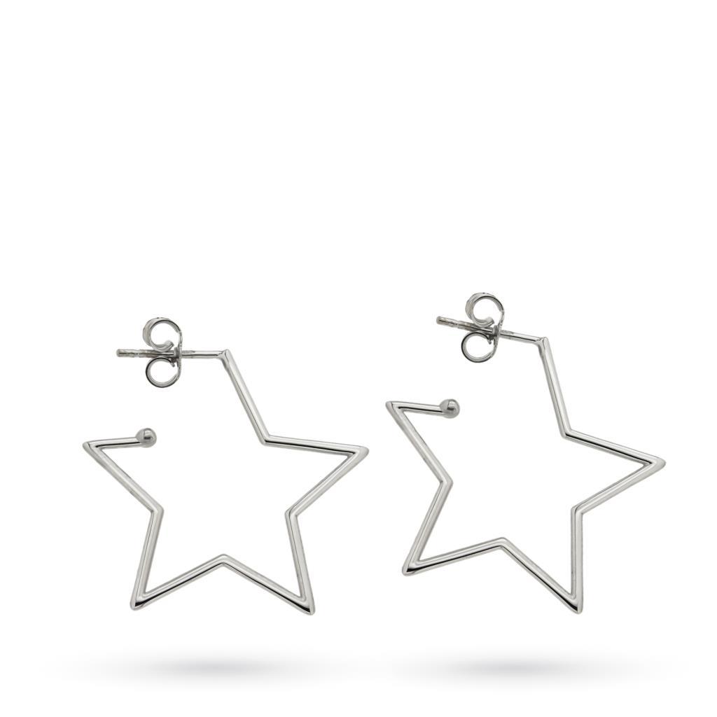 Orecchini a stella in oro bianco 18kt - CICALA