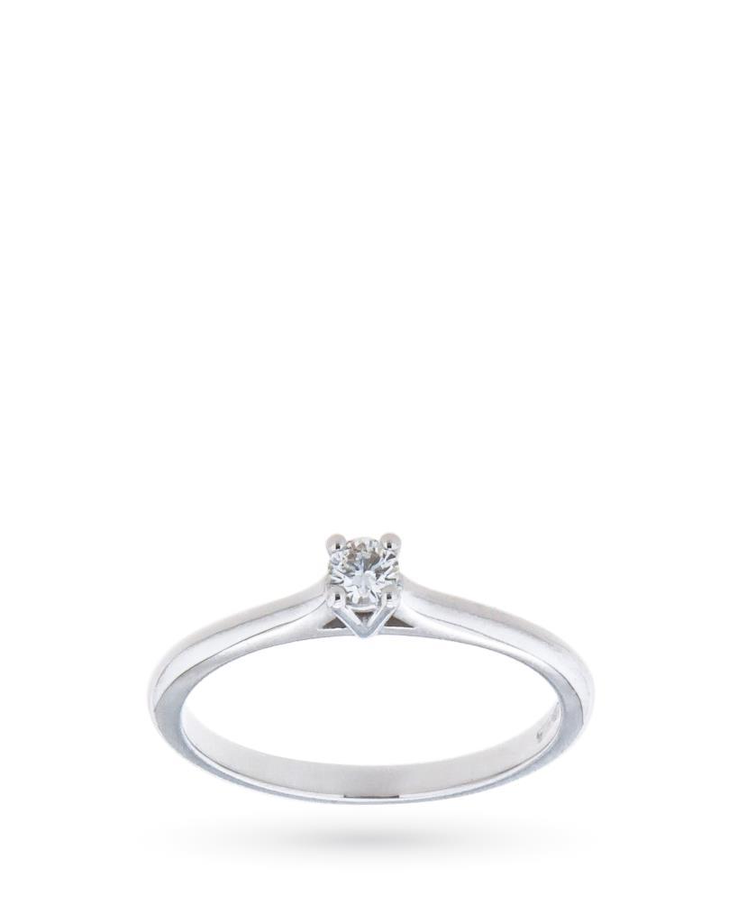 Solitaire ring with diamond ct 0,12 F VS - MIRCO VISCONTI