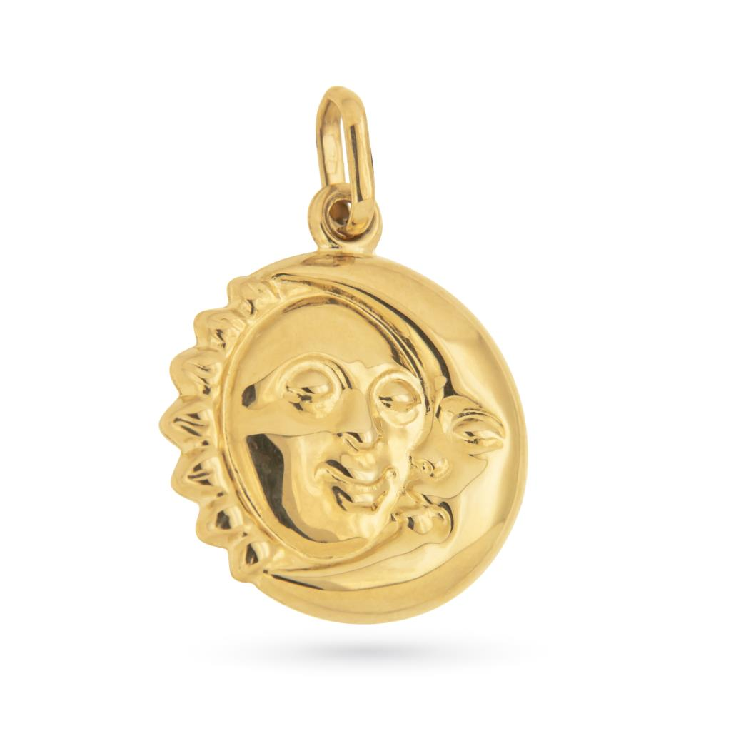 Ciondolo sole luna oro giallo 18kt - UNBRANDED