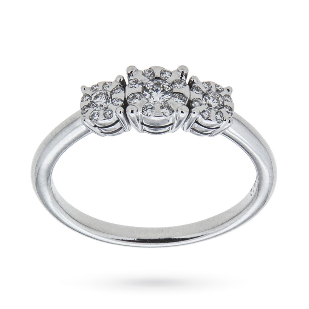 Anello trilogy con diamanti ct 0,26 G VS - MIRCO VISCONTI