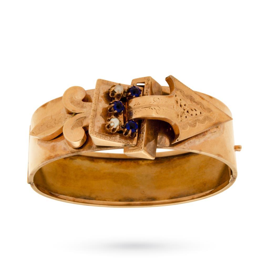 Bracciale vintage in oro rosa del periodo borbonico - UNBRANDED
