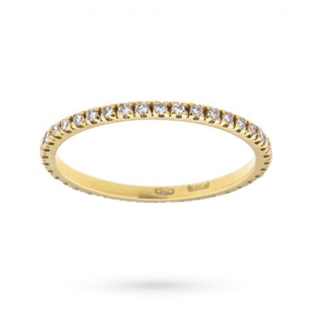 Anello eternity con diamanti ct 0,34 D VS - CICALA