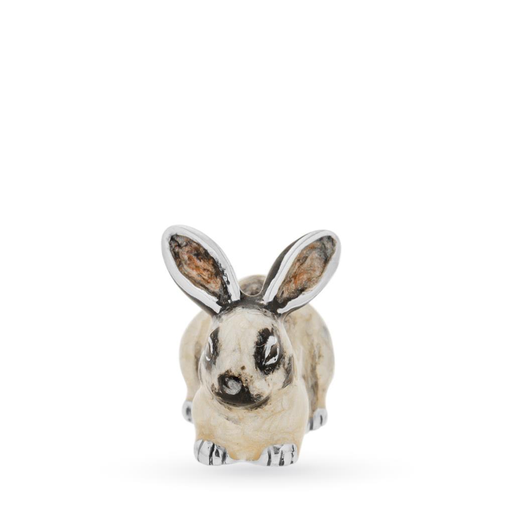 Coniglio mini soprammobile in argento e smalto - SATURNO