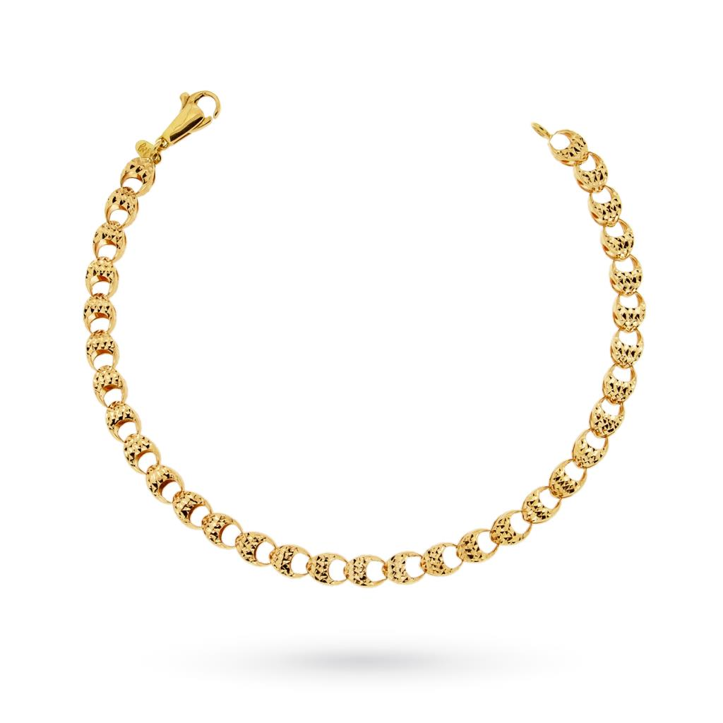 18kt yellow gold bracelet with diamond link - CICALA