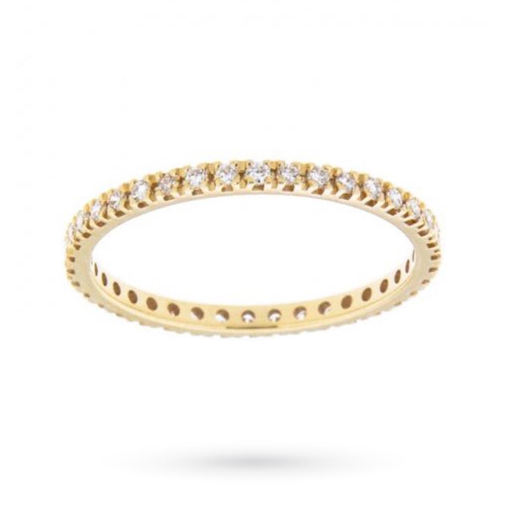 Anello eternity con diamanti ct 0,32 D VS - CICALA