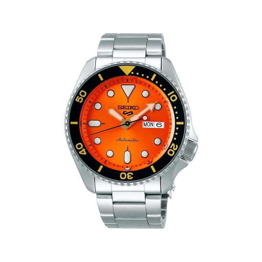 Orologio da uomo Seiko 5 Sports 3 sfere automatico arancione - SEIKO