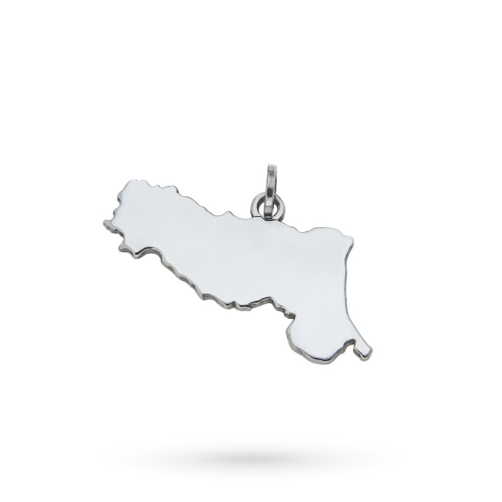 Emilia Romagna region pendant in 925 silver - CICALA