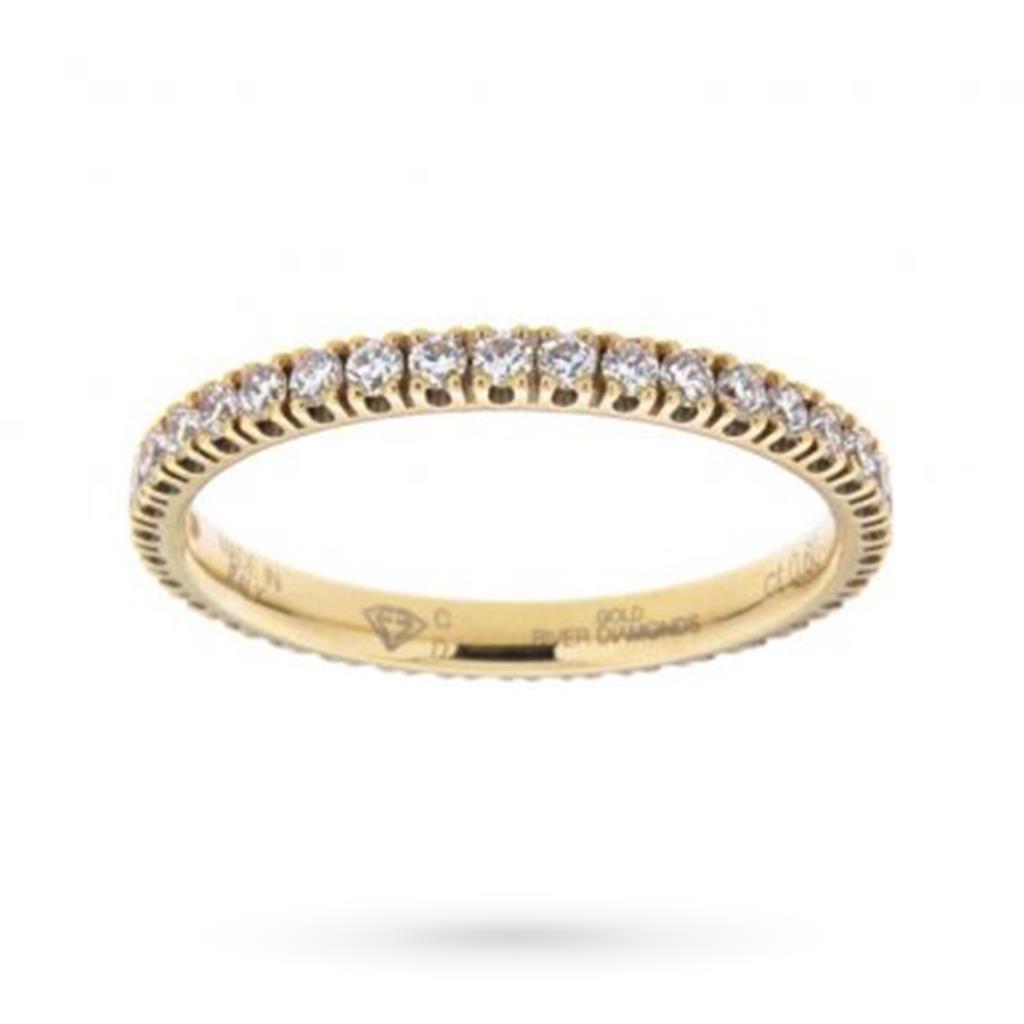 Anello eternity con diamanti ct 0,60 D VS - CICALA
