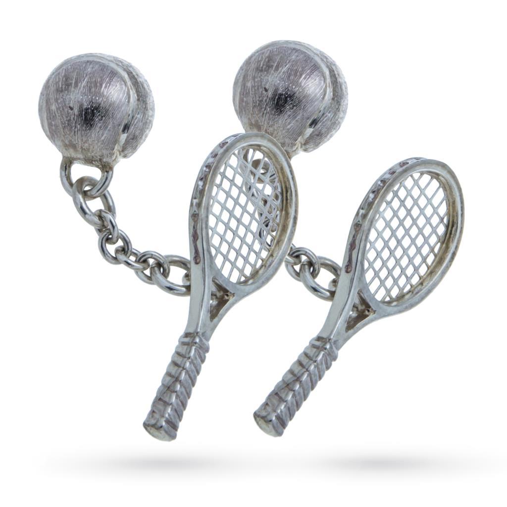 Gemelli in argento 925 a racchetta da tennis - BELFIORE