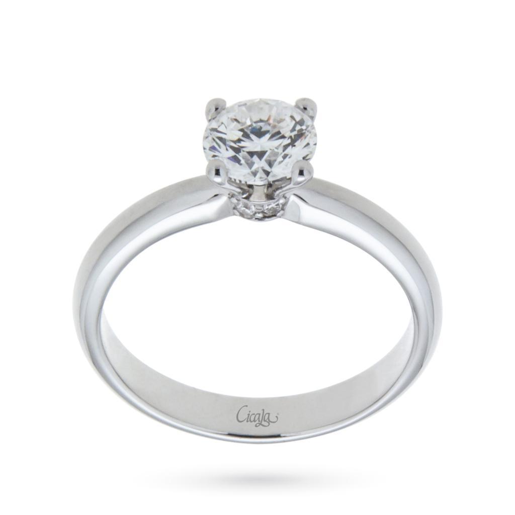 Anello di fidanzamento Elune con diamante 0,80ct D VS - CICALA