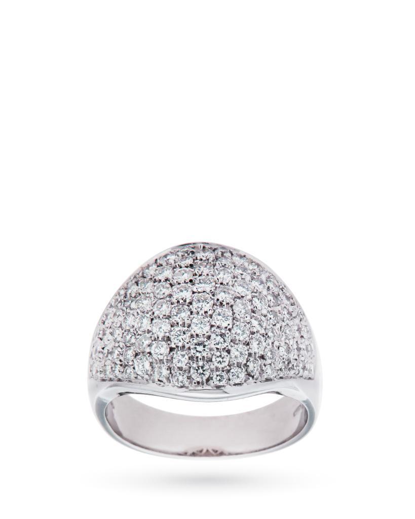 Anello in oro bianco con fascia di diamanti 1,90ct G VS - CICALA