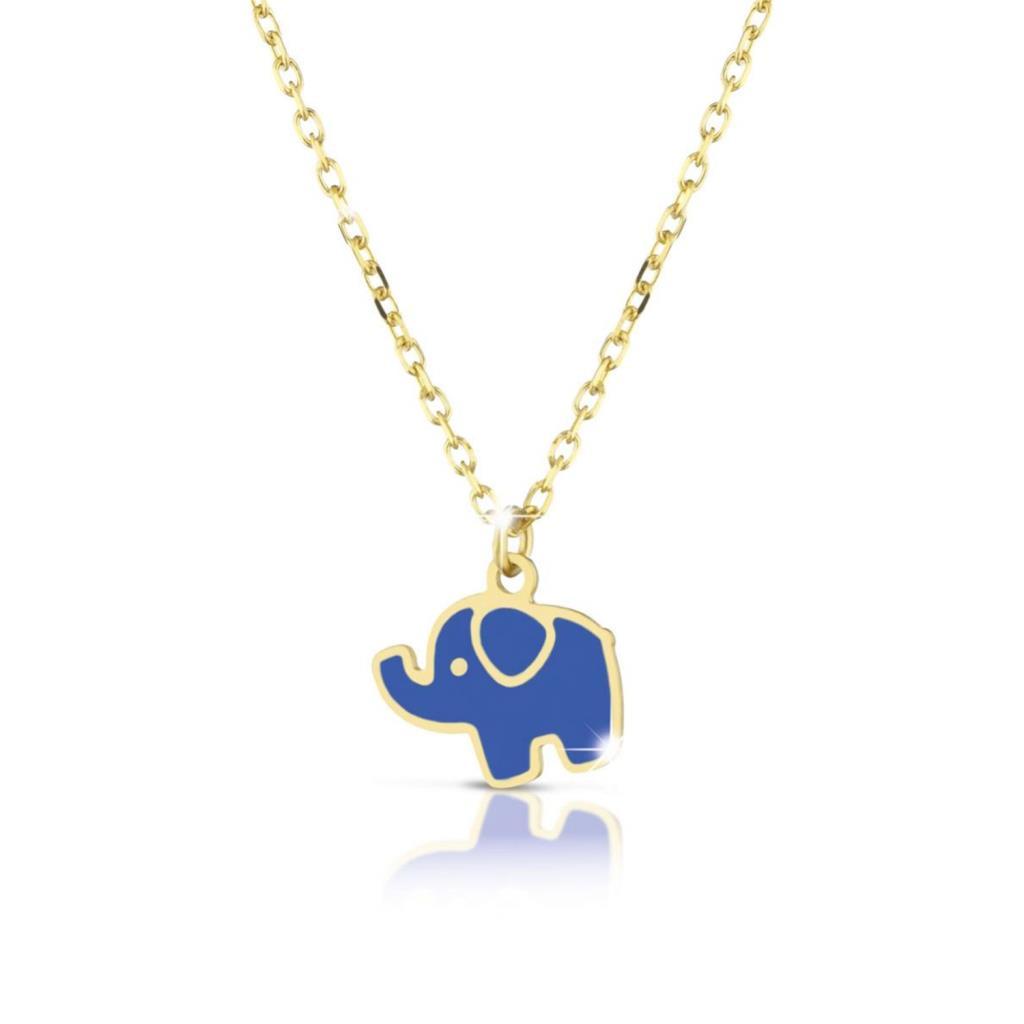 Collana leBebe Primegioie Fortuna PMG025 oro giallo elefantino - LE BEBE