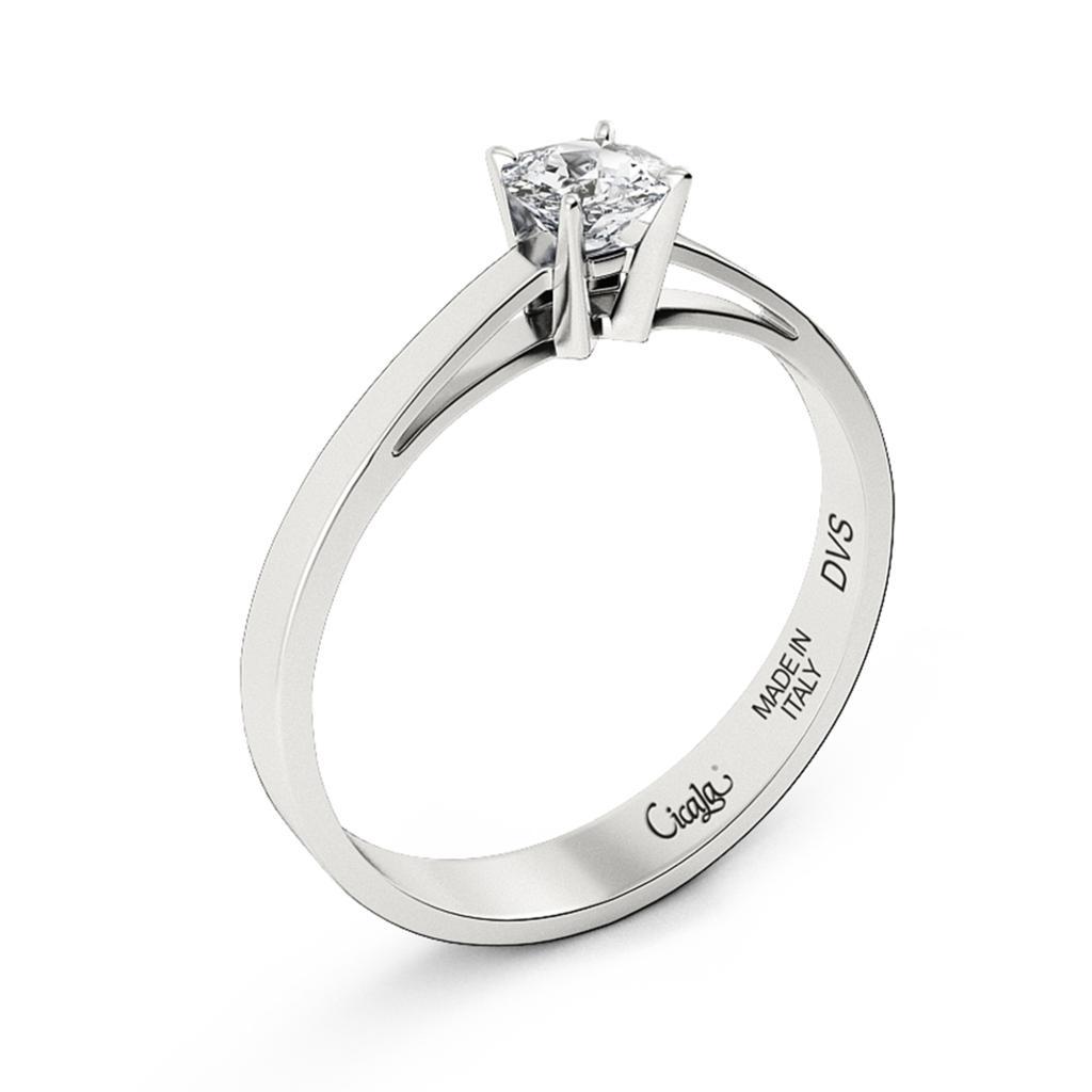 Anello di fidanzamento D Color con diamante 0,80ct D VS - CICALA
