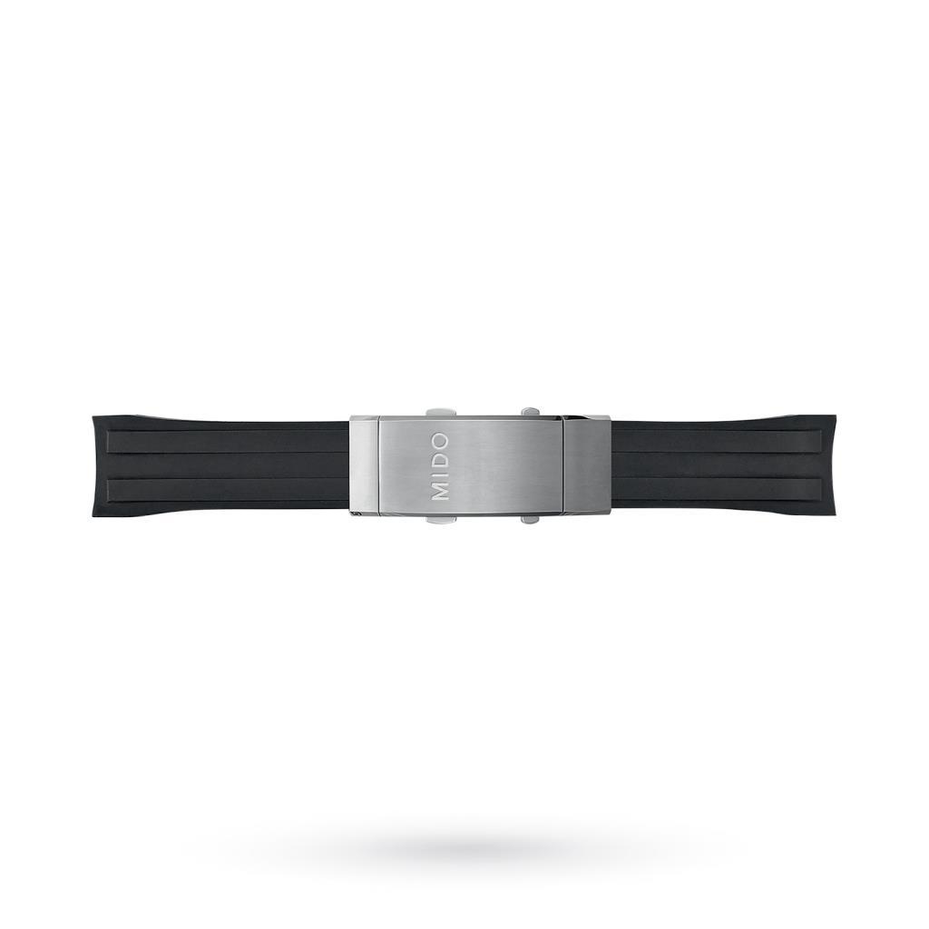 Cinturino orologi Mido caucciu nero 22-20mm - MIDO