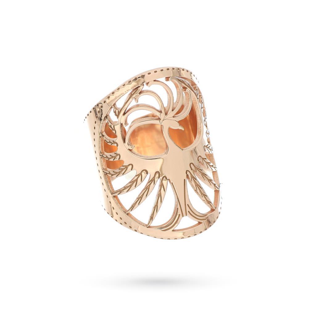 Anello con fenice in argento rosa  - MAMAN ET SOPHIE