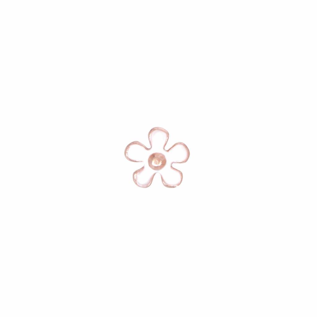 Orecchino singolo a lobo con fiore bianco in argento 925  - MAMAN ET SOPHIE