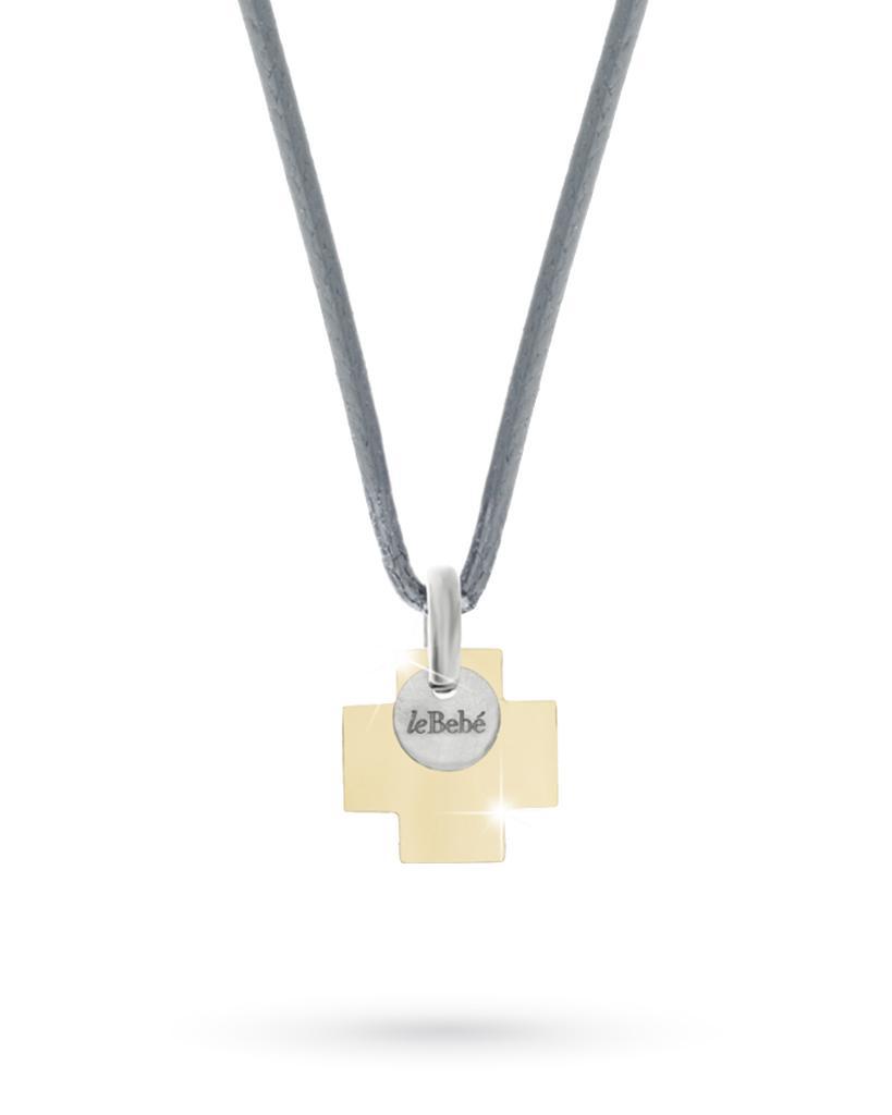 Croce leBebè Valor LBU010 oro giallo medaglietta titanio - LE BEBE