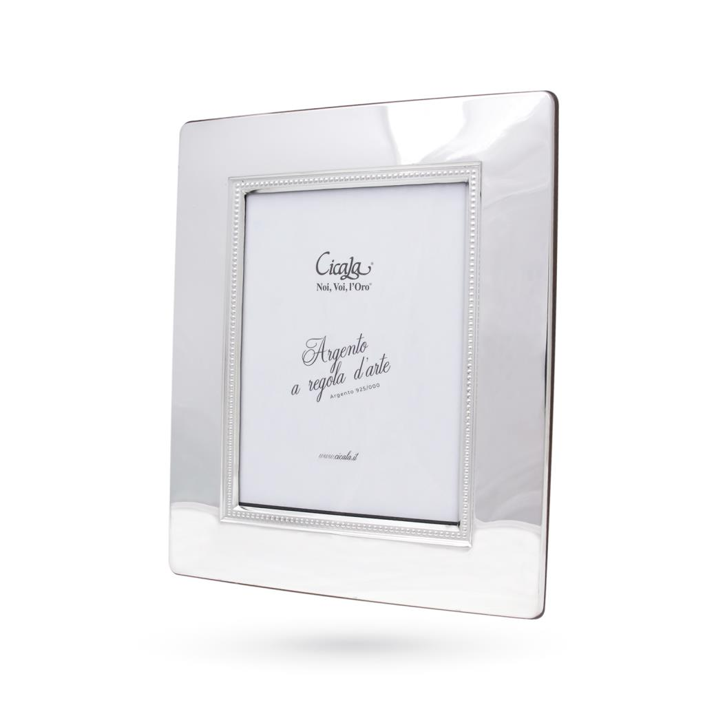 Silver photo frame 13x18 cm smooth with dots - CICALA