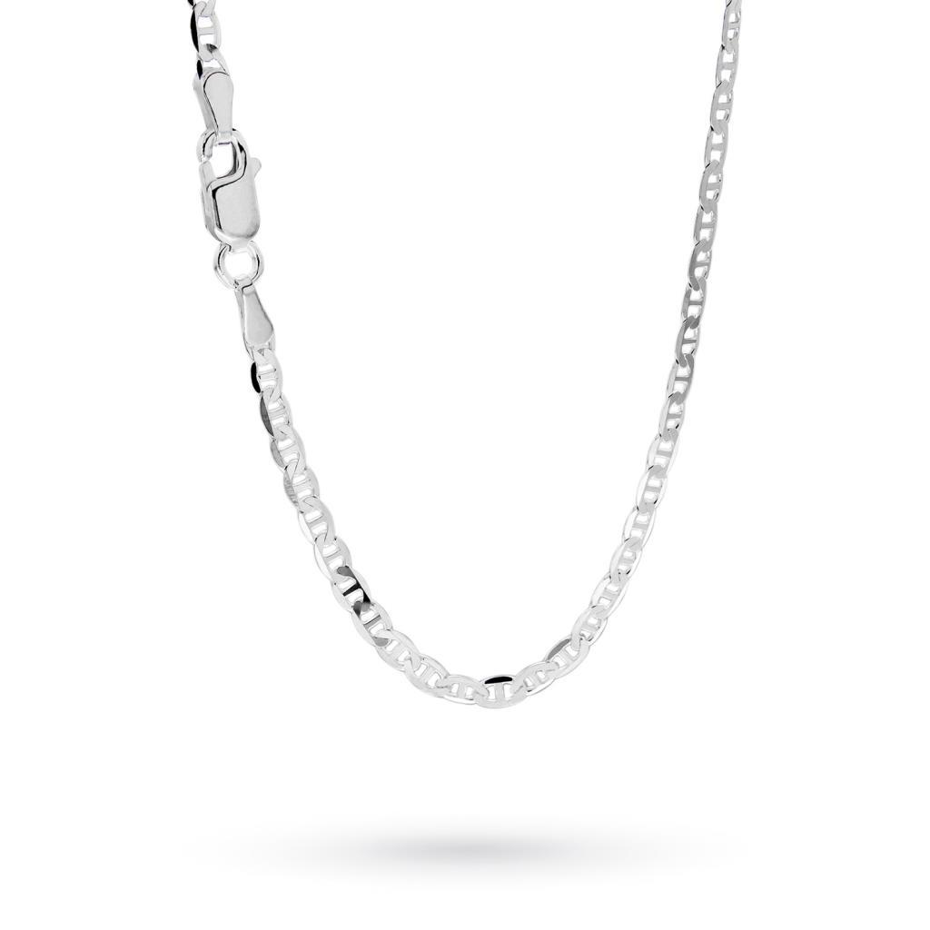Catenina maglia traversina in argento 50cm - CICALA