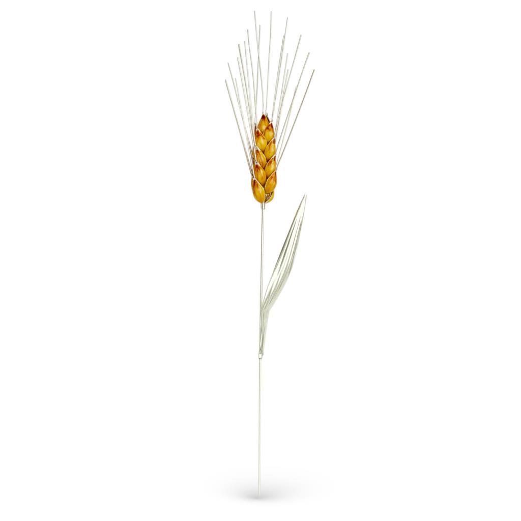 Spiga di grano gialla soprammobile in argento 32cm - GI.RO'ART