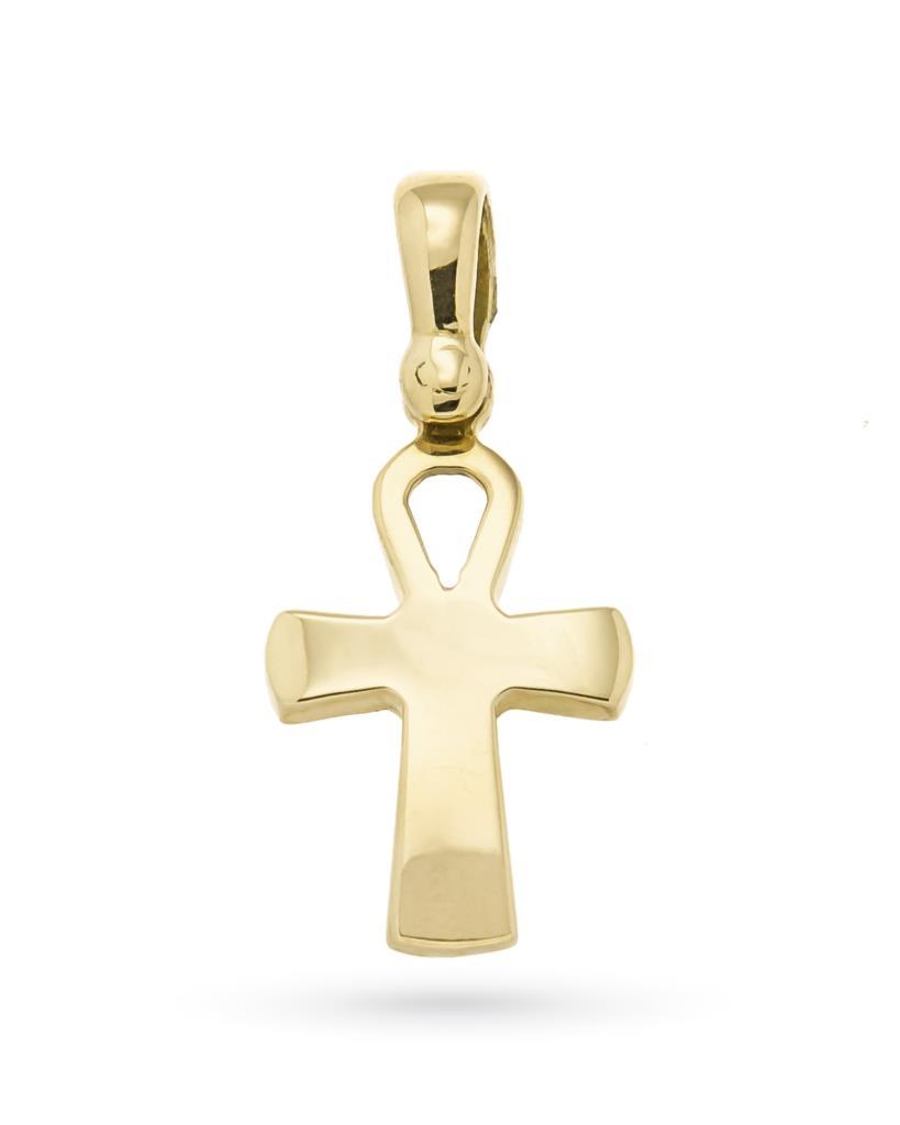 Croce egizia in oro giallo 18kt lucido - UNBRANDED