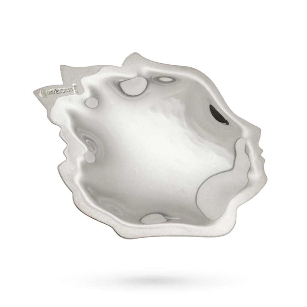 Piattino soprammobile viso di profilo in argento - DE VECCHI