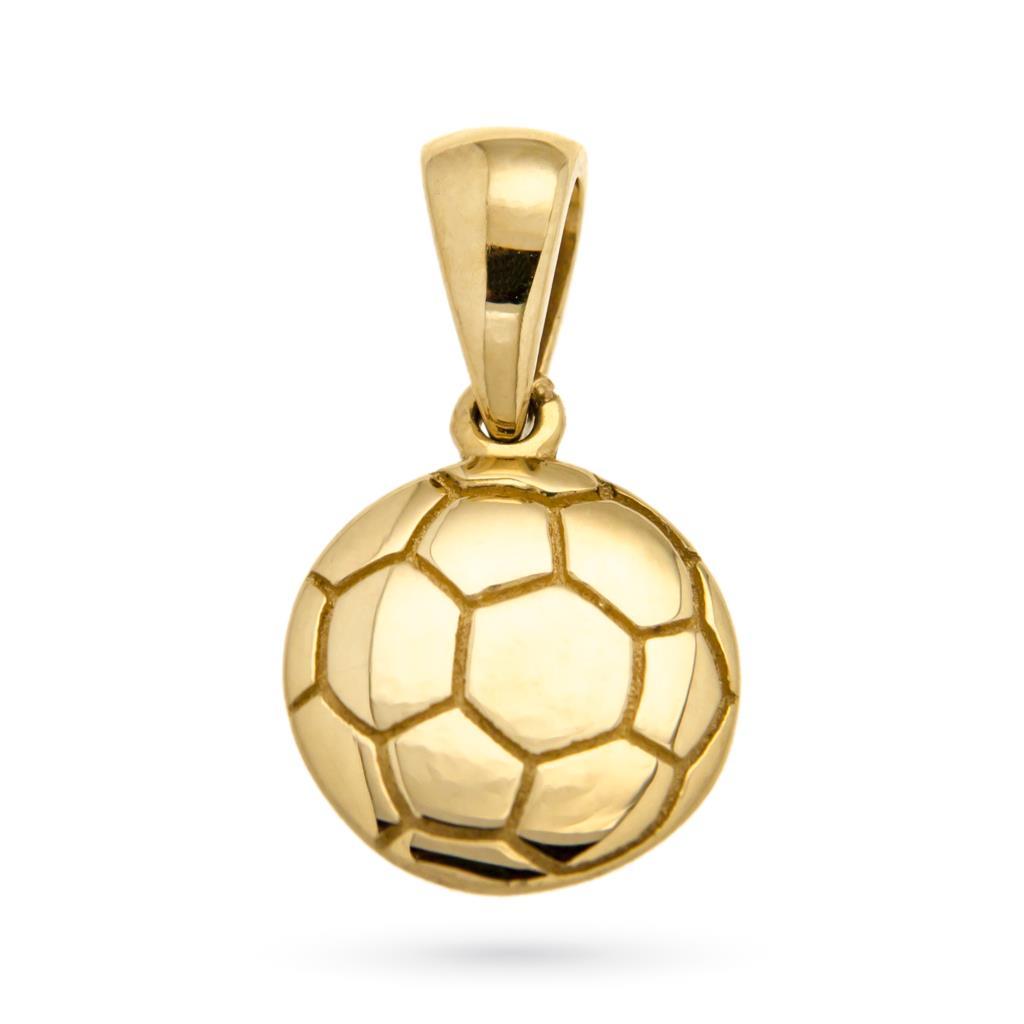 Ciondolo pallone da calcio in oro giallo 18kt - CICALA
