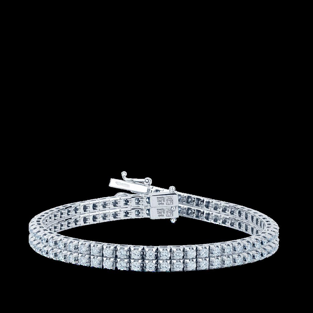 Bracciale tennis in oro bianco con diamanti ct 0,65 G VS - MIRCO VISCONTI