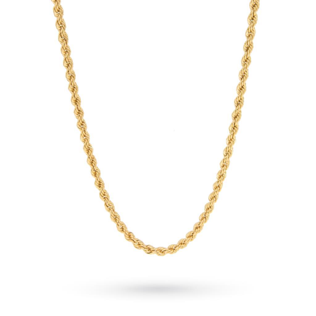 Collana torciglione in oro giallo 18kt 44cm - CICALA