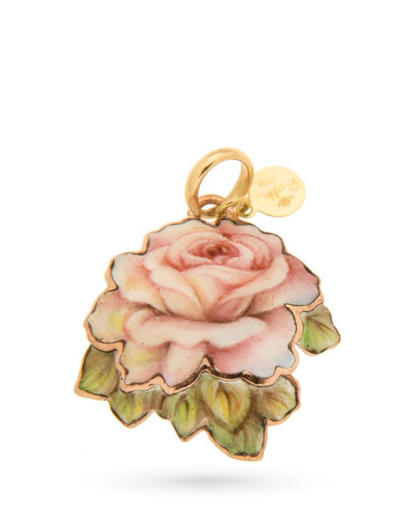 18kt yellow gold and copper Gabriella Rivalta Rose pendant - GABRIELLA RIVALTA