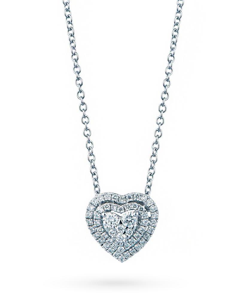 Girocollo con cuore di diamanti taglio brillante 0,23ct G VS in oro bianco - MIRCO VISCONTI