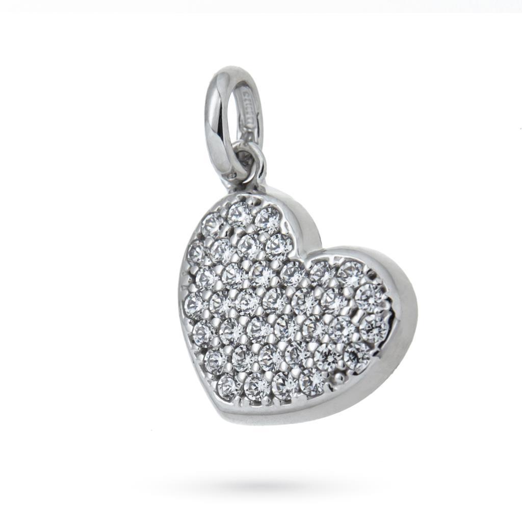 034a1ac4ee Ciondolo cuore in oro bianco 18kt con zirconi - CICALA - Cicala.it