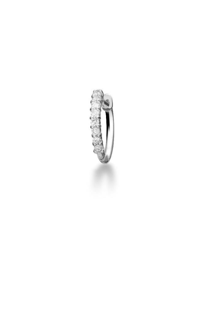 Mono orecchino  leBebé LBB540 con pavé di diamanti - LE BEBE