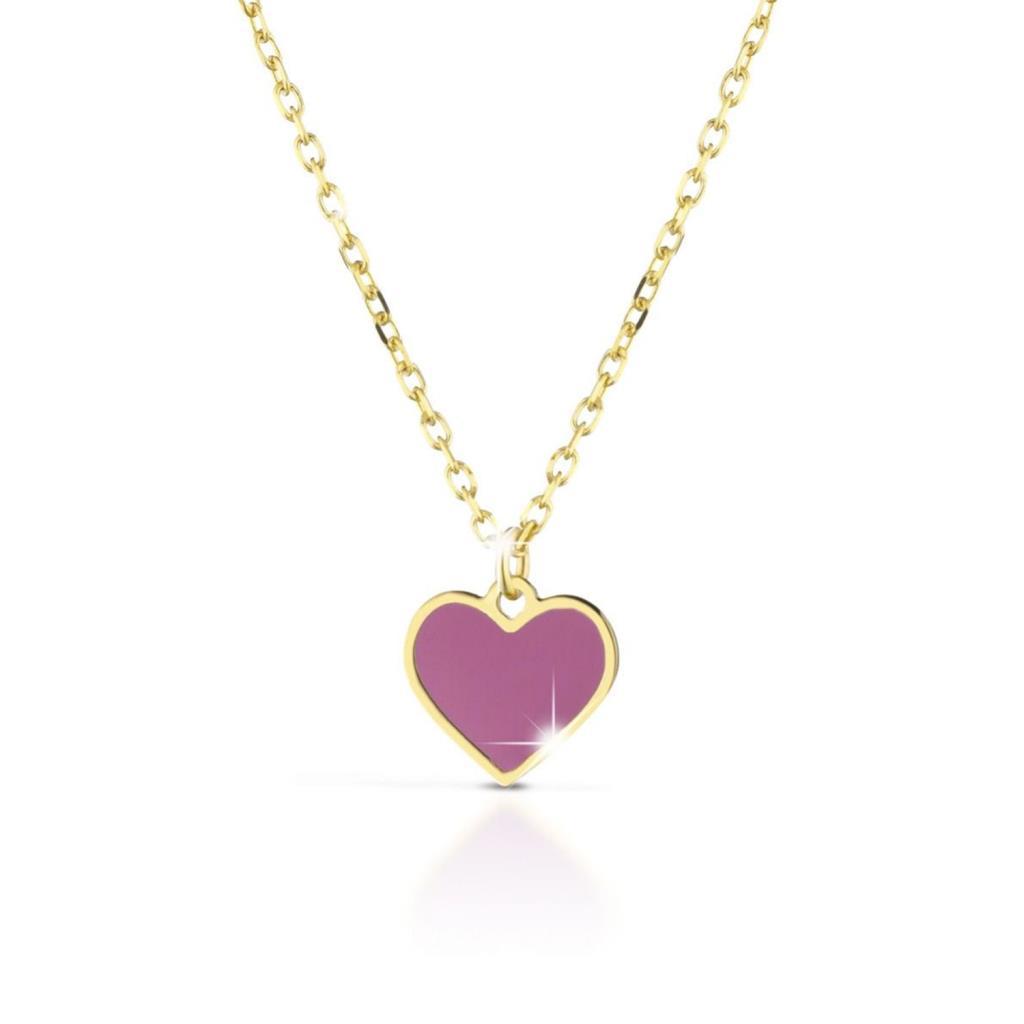 LeBebe Primegioie Fortuna PMG029 yellow gold heart necklace - LE BEBE