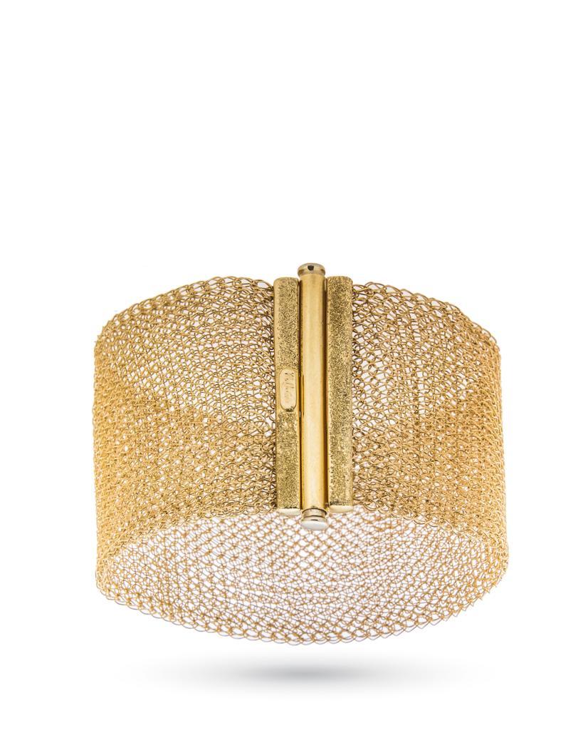 Conosciuto Bracciale in oro giallo lavorato come tessuto - UNBRANDED - Cicala.it BI44